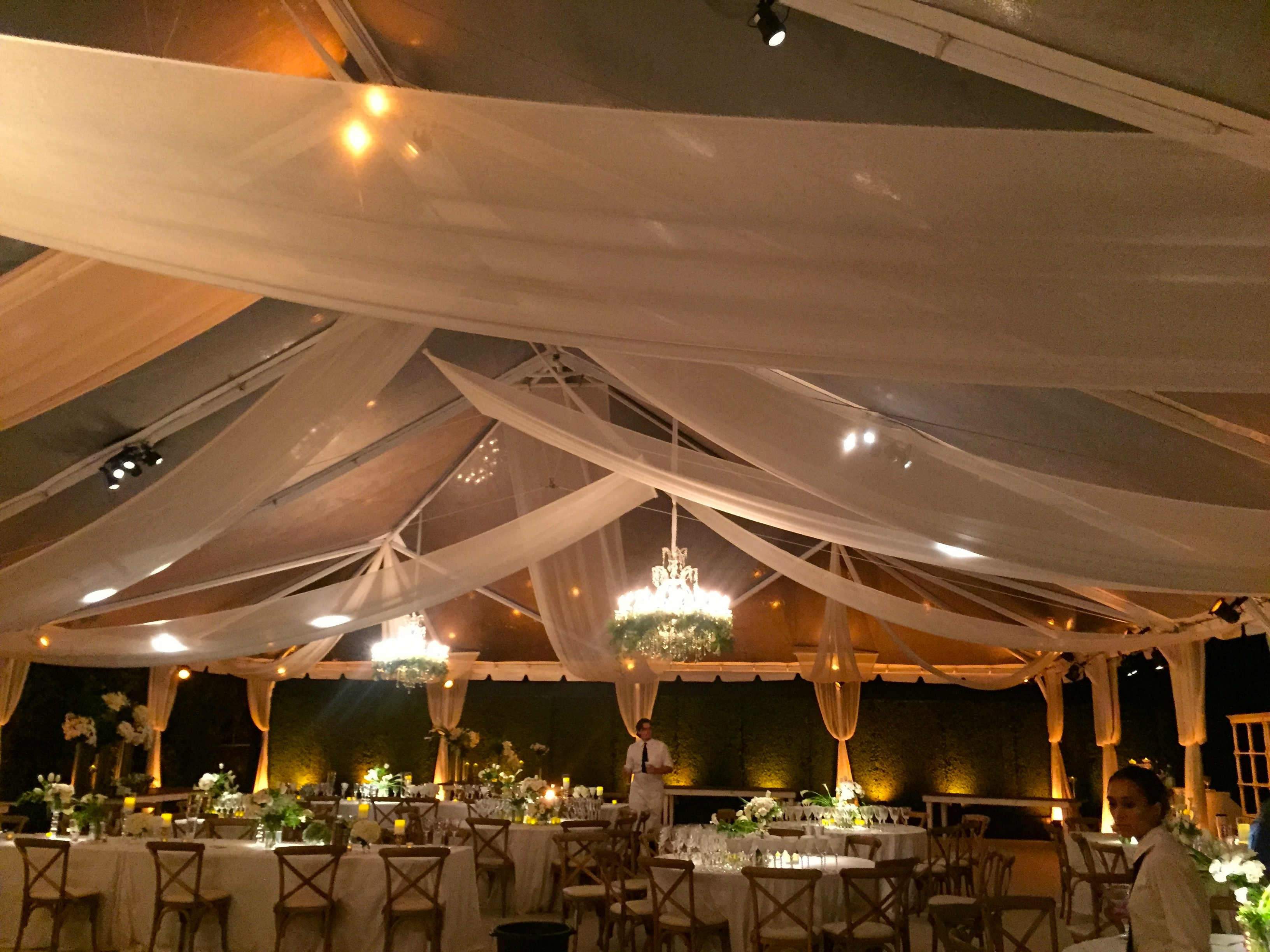 hang dsc for at and conference project stage to vodafone events ceiling drape install drapery how drapes hire event