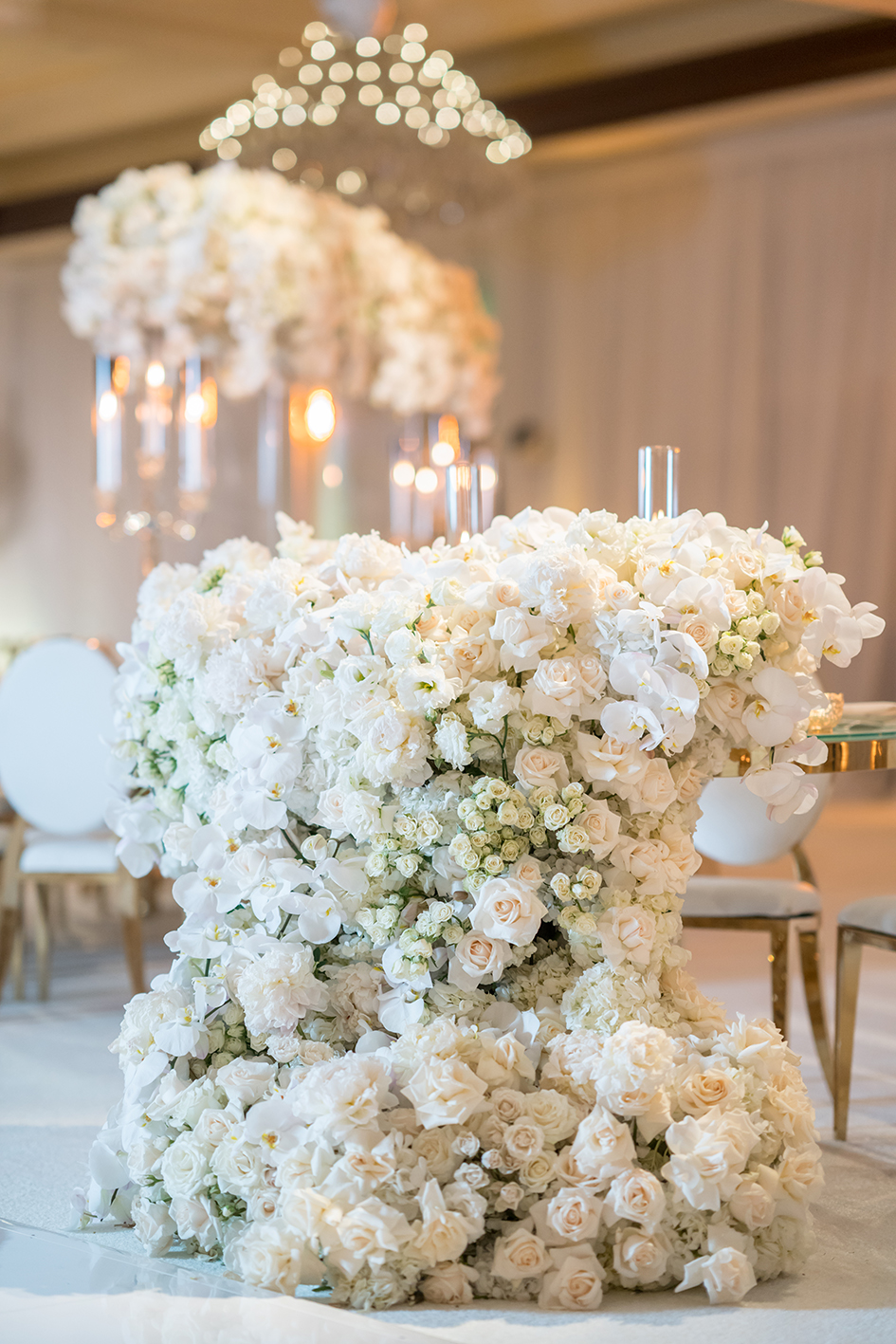 Floral decor at Michael and Neda's wedding at Four Seasons Westlake Village