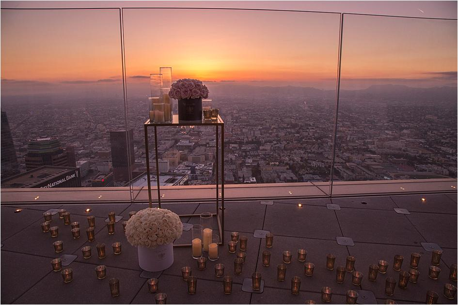 Terrace for Two: Sky-High Proposals at OUE Skyspace L.A. | California Wedding Day