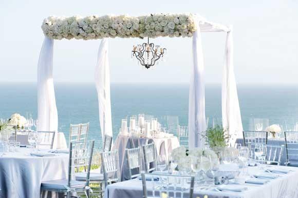 Great Gastby Style Santa Monica Beach Wedding Photographed B