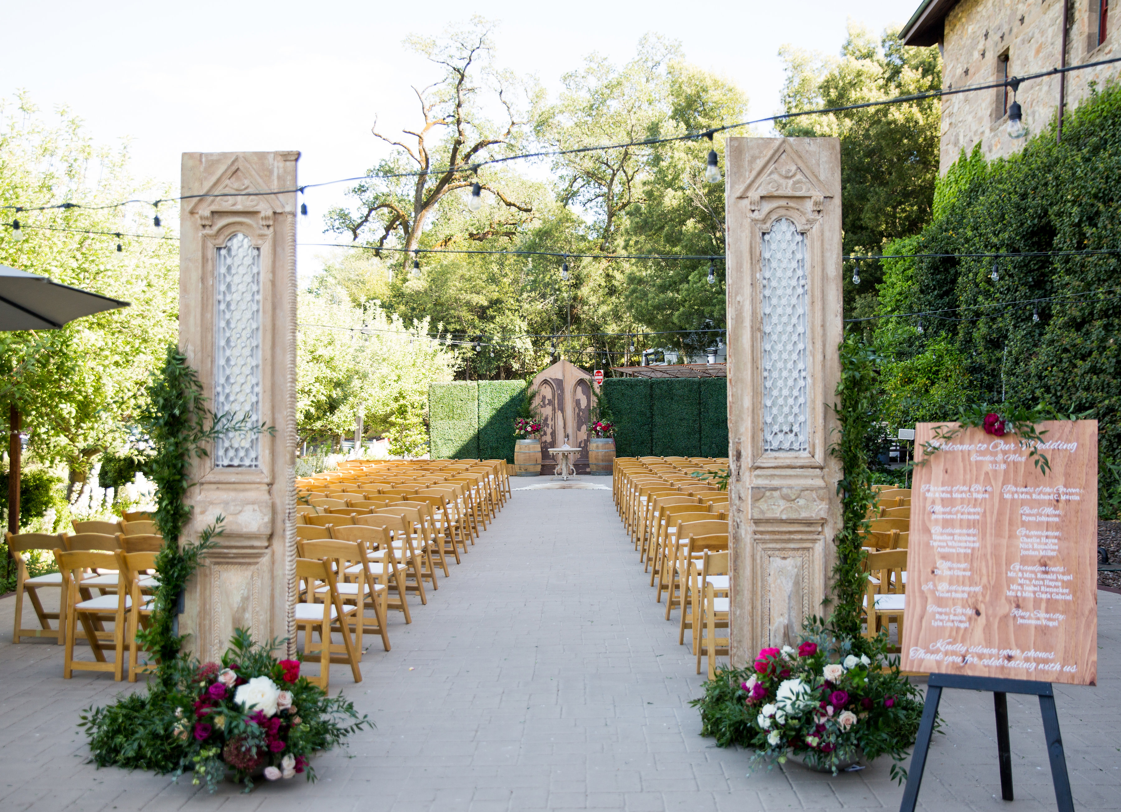 Napa Wedding Venues.Venue Tour Two Napa Valley Wedding Venues With World Class Dining