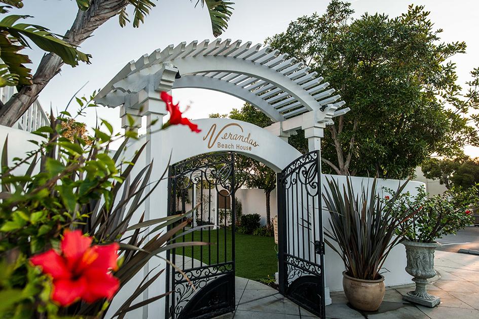 The entryway to Verandas Beach House