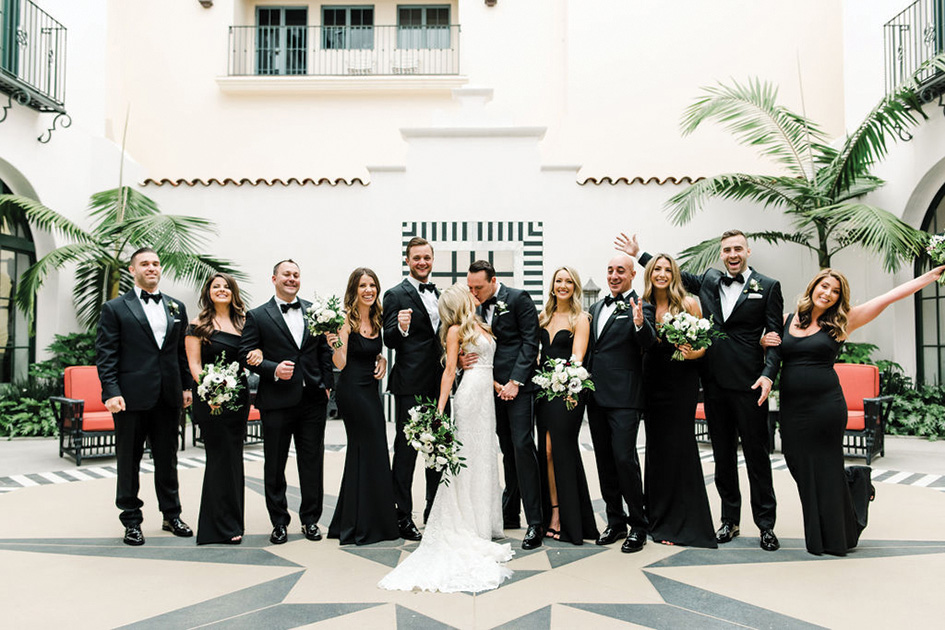 Cassie and Andrew wed at Hotel Californian