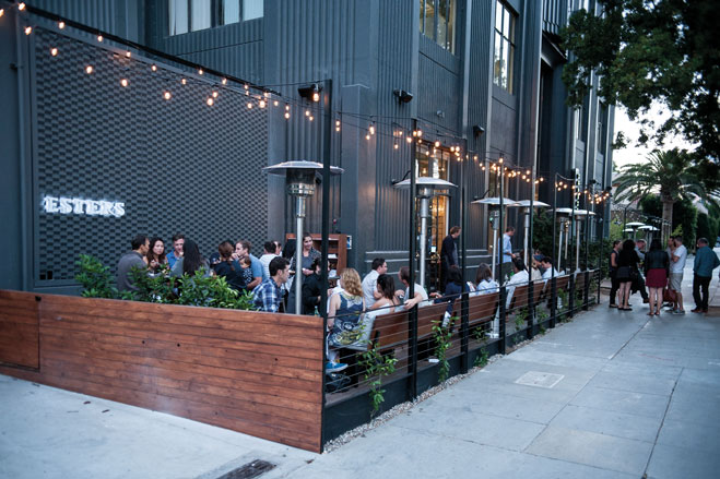 bridal showers and bachelor parties while larger parties up to 90 guests can takeover the sidewalk patio or buyout the entire shop and bar space