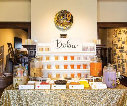 Boba bar is a fun, new addition to wedding receptions.