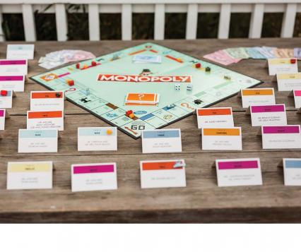 Monopoly themed wedding