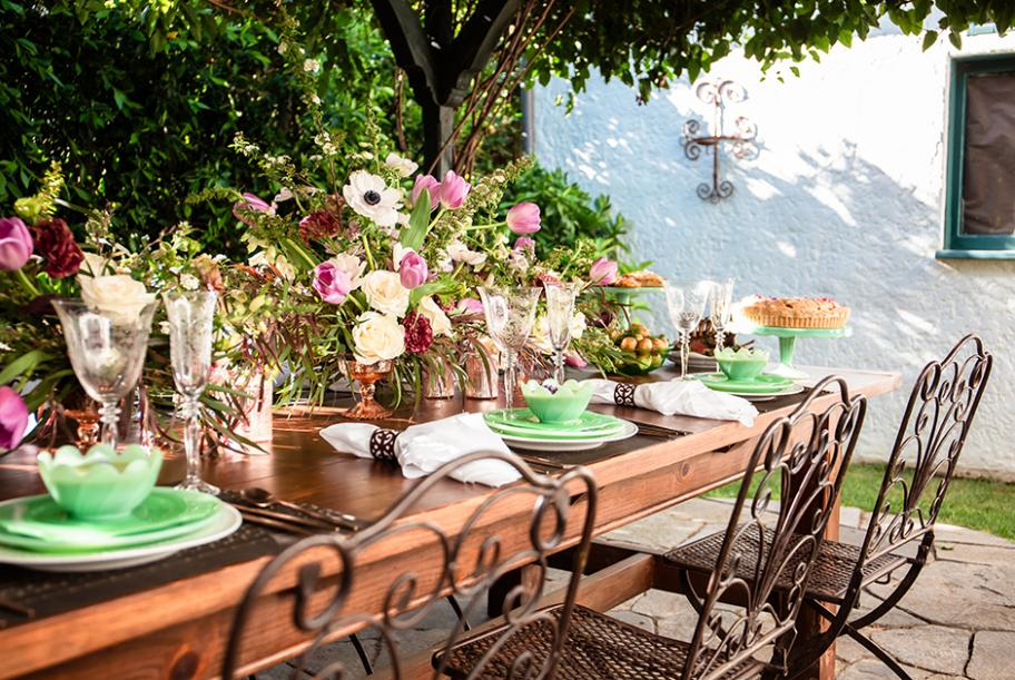 Garden party table setting how to
